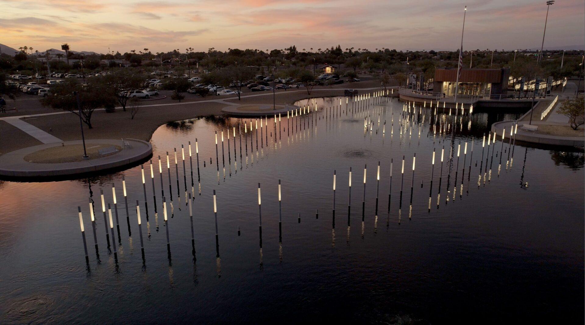 USS Arizona memorial at Salt River